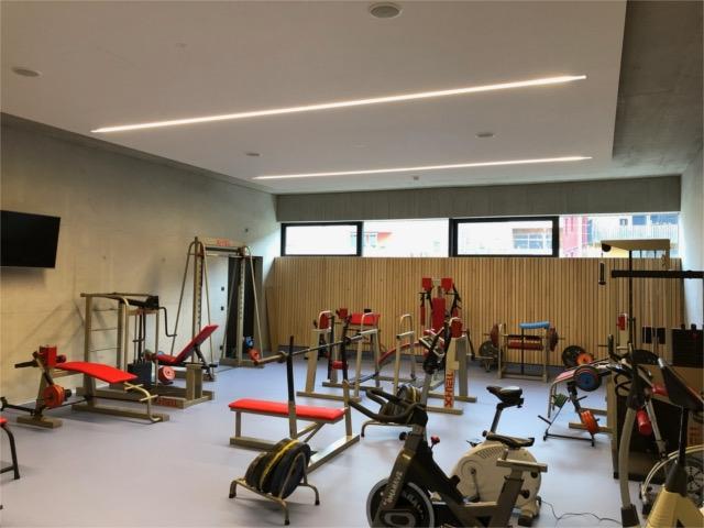 Fitnesshalle, Training